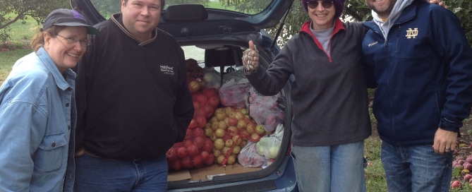 Apple picking, Cider Hill, Farmers Insurance