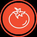 Red tomato icon