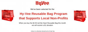 "Buy a HyVee""My Heart"" Bag in June, support ATH @ HyVee"