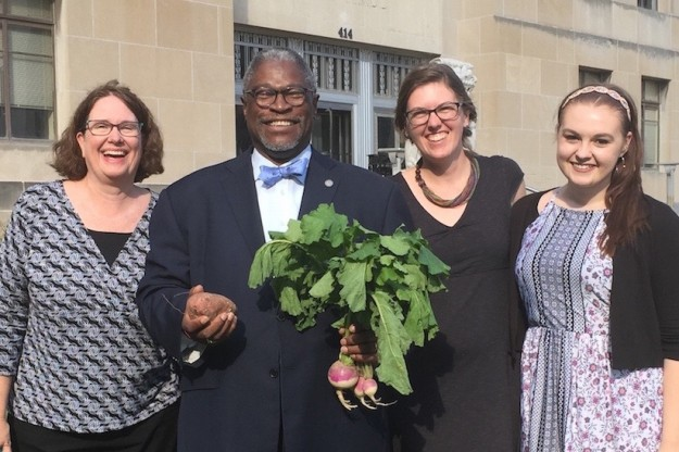 ATH staff with Mayor Sly James