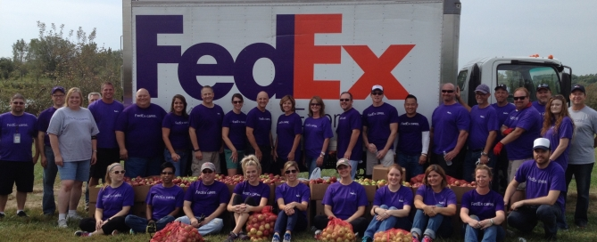 FedEx gleaning apples