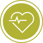 Green heartbeat icon