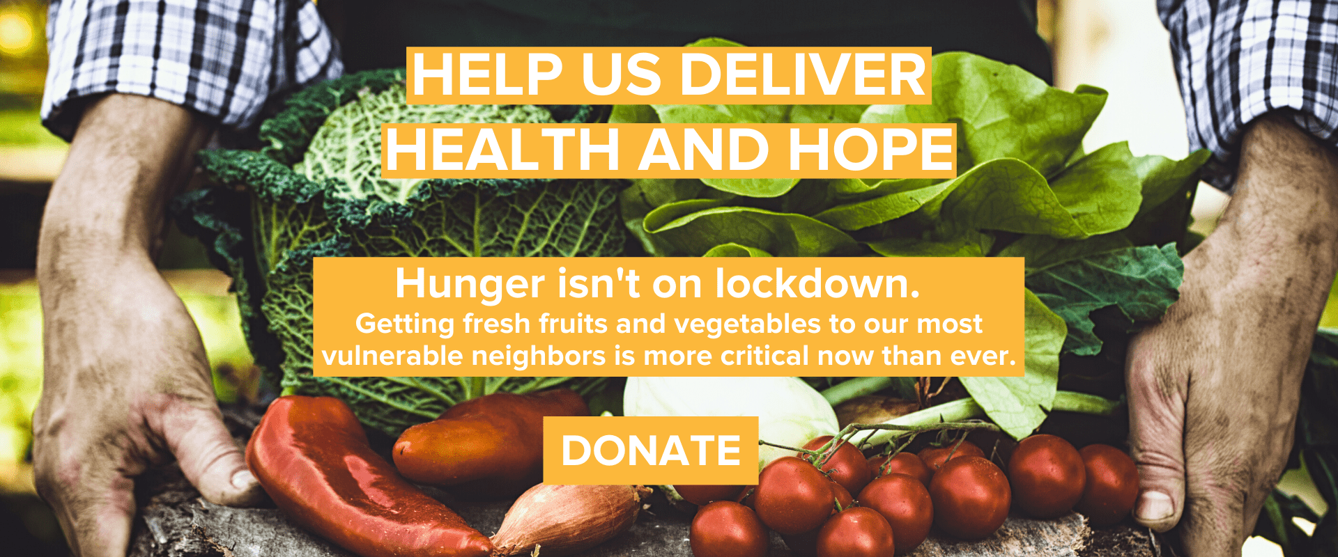Hunger isn't on lockdown. Donate