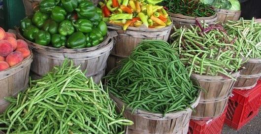 Farmers market, vegetables