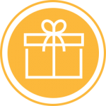 Yellow gift icon