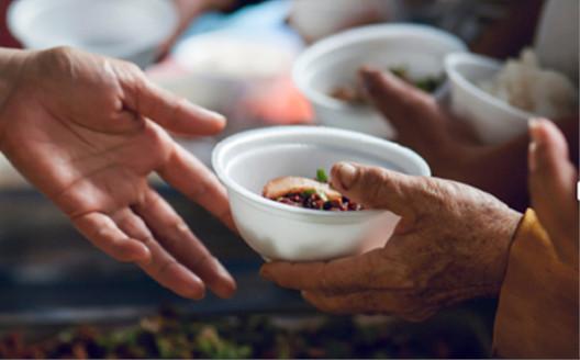 Handing off a bowl
