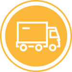 Yellow truckload icon